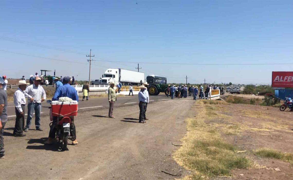 Manifestación de productores de grano. FOTO: Archivo