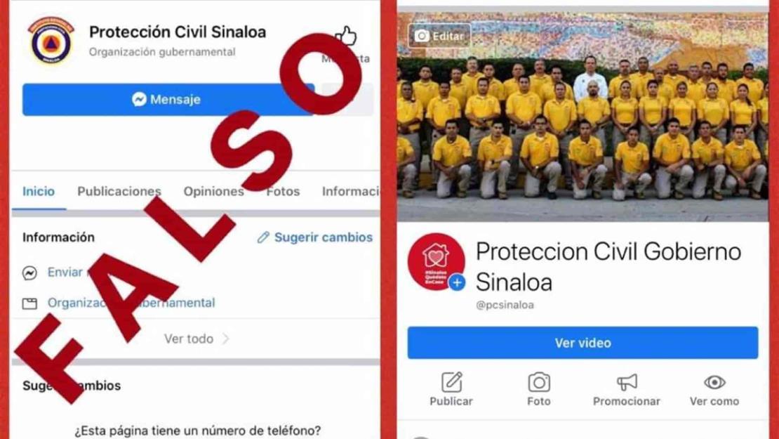 Se hacen pasar por Protección Civil y desinforman a la ciudadanía en redes sociales