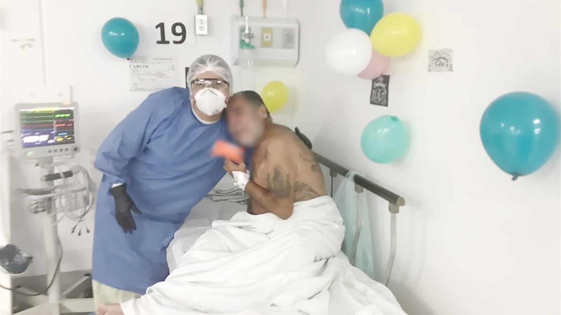 Jornalero recibe el mejor regalo de cumpleaños: recuperarse de Covid-19 en el IMSS
