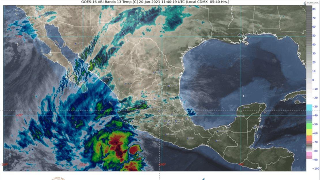 Pronostica SMN lluvias muy fuertes para Sinaloa este miércoles