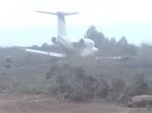 Se accidenta jet privado en el aeropuerto de Los Mochis