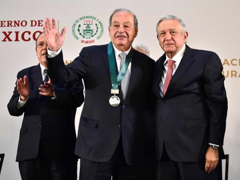 Carlos Slim, de 80 años, padece covid con síntomas menores