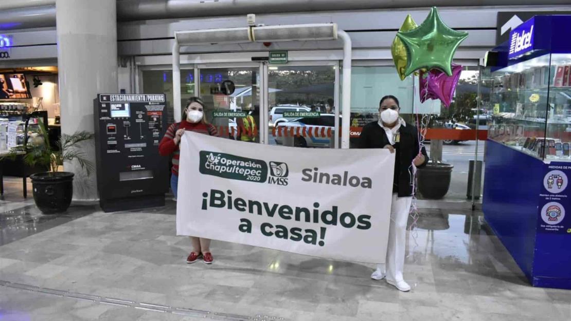 Regresan a Sinaloa trabajadoras del IMSS tras participar en Operación Chapultepec