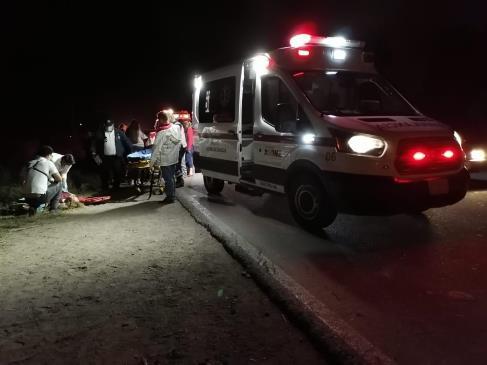 Muere motociclista en el ejido Macapul en desigual choque