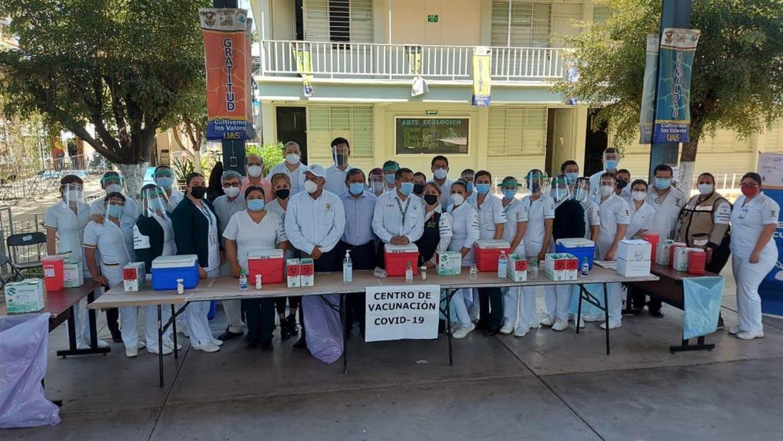 Supervisa Comando Estatal de Vacunación módulo en la Torre Académica de la UAS