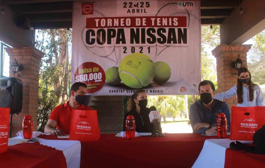 Invitan a participar en el Torneo Abierto de Tenis Nissan 2021