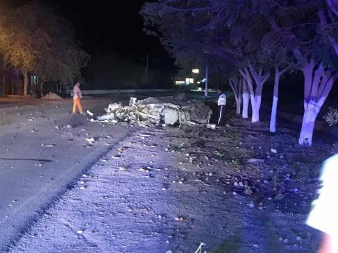 Muere mujer tras impactarse contra árbol en el Primero de Mayo, Ahome