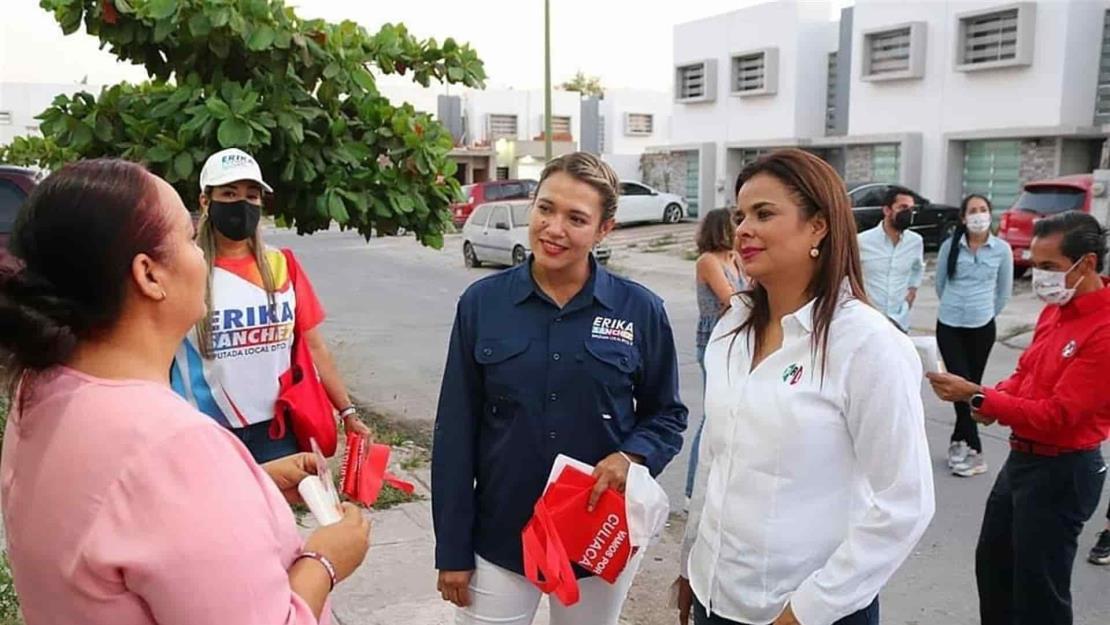 Monserrat Arcos y Carlos Iriarte respaldan candidatura de Érika Sánchez