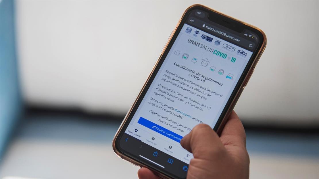 La UNAM presenta app para controlar la covid en su comunidad