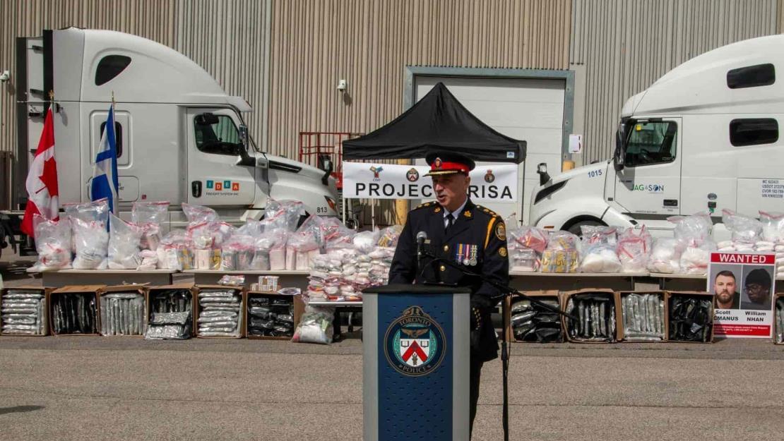 Policía canadiense incauta más de una tonelada de drogas de México