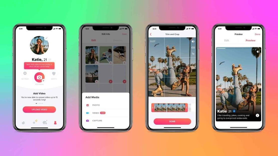 Tinder añade vídeos a los perfiles para adaptarse a la Generación Z
