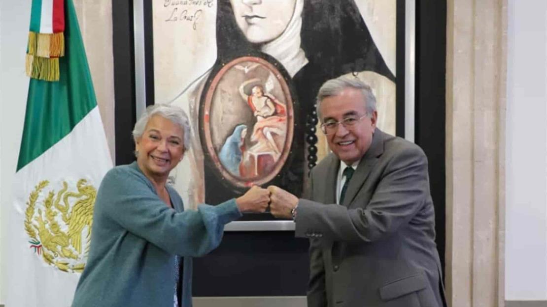 Rocha Moya se reúne con Olga Sánchez Cordero; acuerdan apoyar a familias de desaparecidos
