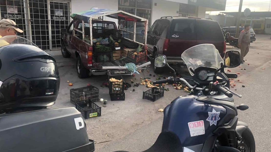 Conductora atropella a vendedor de verduras en Guamúchil
