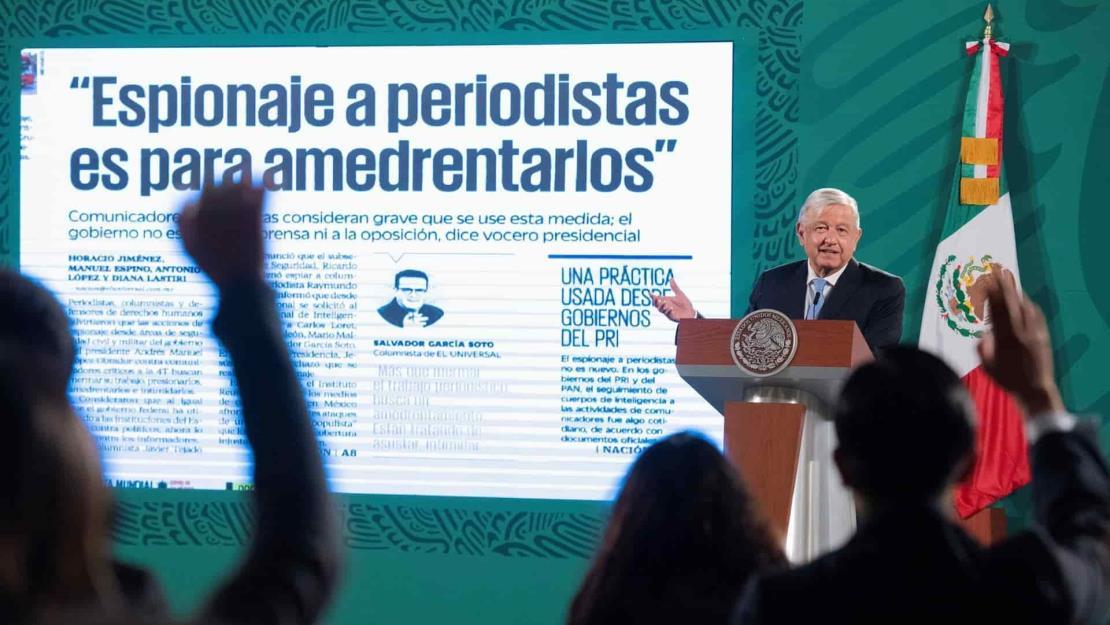 López Obrador niega espiar a periodistas y activistas críticos de su Gobierno