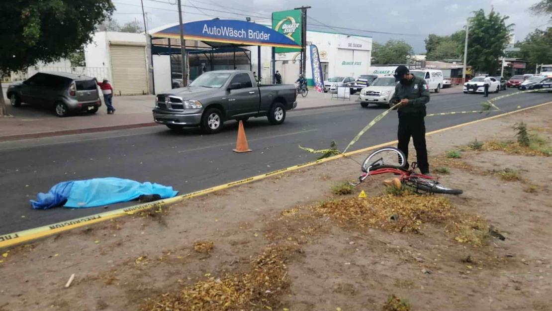 Ciclista muere al ser atropellado por un automóvil frente al aeropuerto de Culiacán