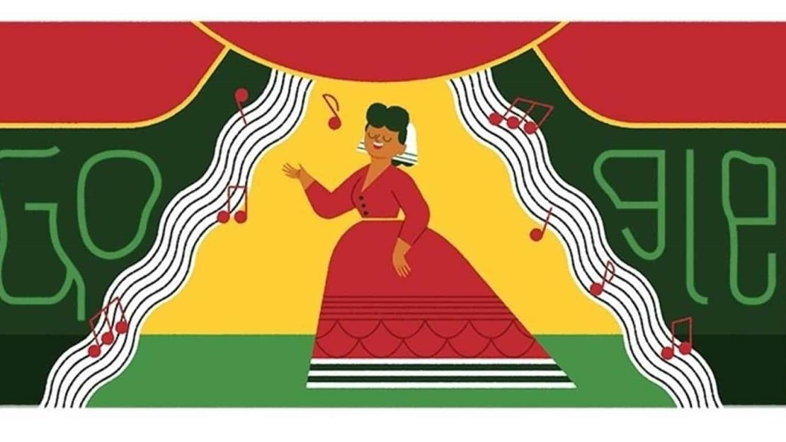 Google ilustra su página y rinde homenaje a Ángela Peralta