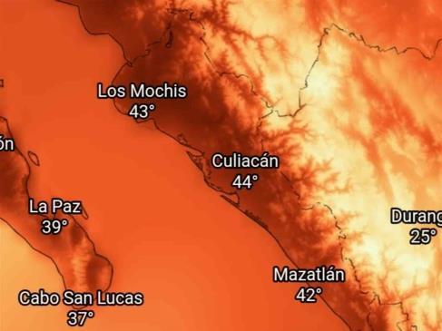 Se pronostica intenso calor para Sinaloa